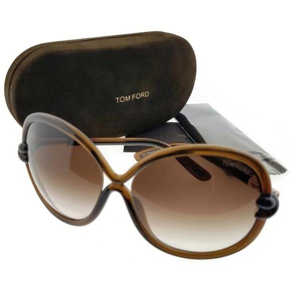 16174dd523b9 Ft0185-48f-64 Women s Brown Frame Sunglasses